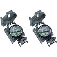 AceCamp Militär Kompass, Taschenkompass aus robusten Metallgehäuse mit Peilfaden zur Orientierung, Ideal für Bootstouren, Wandern, Outdoor, 3103