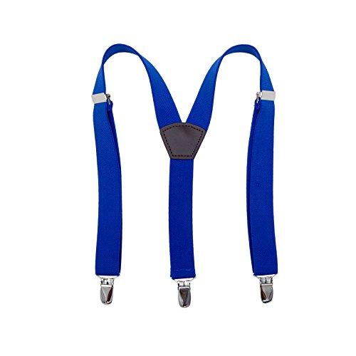 wachsenen Hosenträger - Jungen Mädchen Y-Zurück Clip-On Klammer 3 Größe Einstellbar (75cm/29.5inch-115cm/45.2inch, Königsblau) (Jungen Clip-on-krawatten)