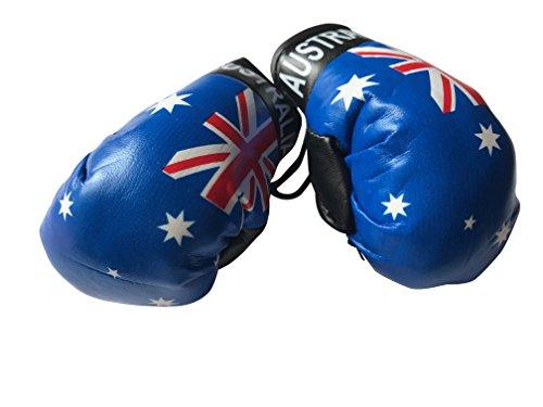 Flagge Mini Kleine Boxhandschuhe zum Aufhängen über Auto Automobil-Spiegel-Südamerika, Country: Australia