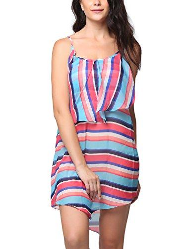 Clovia Women Printed Beach Dress - Pink