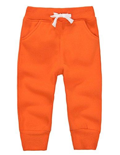 ngen Mädchen Hosen Kinder Jogginghose Baumwolle Fleece Elastische Taille Sweathosen Winter Pants Größe 3 Jahre Orange (Einfaches Mädchen Halloween-kostüme)
