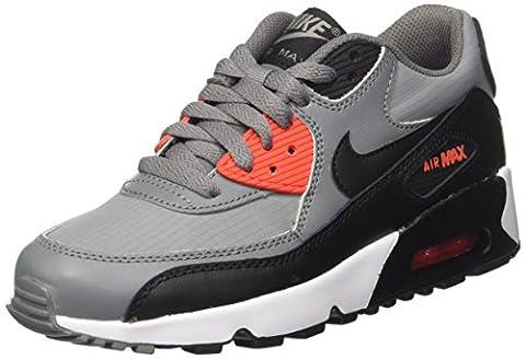 Nike Air Max 90 Mesh Gs, Sneakers Basses Mixte Enfant, Gris (Cool Grey/Black/Max Orange/White), 36 EU