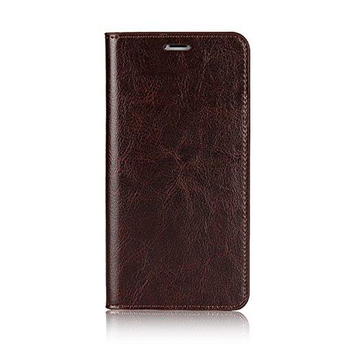 Cover iPhone 8, Cover iPhone 7, Jaorty Libretto di copertina con custodia in cassa di lusso con custodia in pelle con fascia di ricambio e slot per slot per iPhone 8 / 7 (4.7 ) - Rosso iPhone X (Marrone scuro)