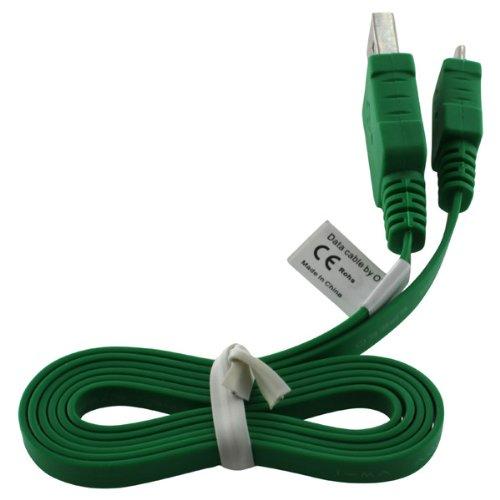 OTB Datenkabel Micro-USB - 0.95m - Flachbandkabel - grün