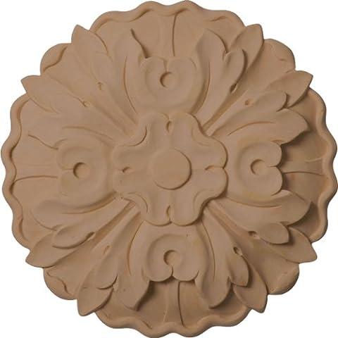Ekena Millwork ROS06X06X01KEMA Medium Kent Floral Rosette, 6 7/8-Inch x 6 7/8-Inch x 1-Inch, Maple