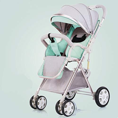 Haoduoliao Kinderwagen, 2-Wege-sitzen und liegen, super leicht, faltbar, umweltfreundliches Material, 360° Lenkrad, geeignet für 0-3 Juni Big Baby, 50 x 25 x 67 cm beige