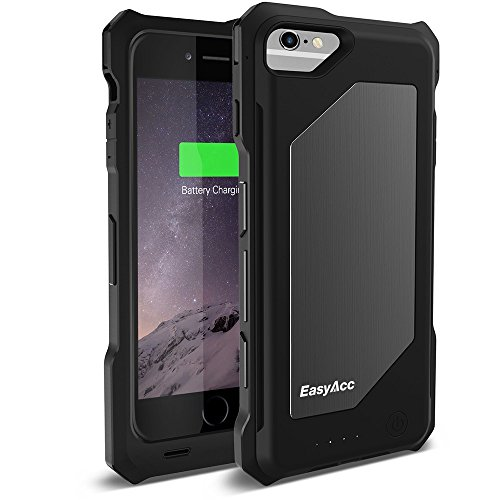 EasyAcc 3100mAh battery case iphone 6 3500mAh-schwarz