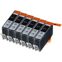 6 Multipack de alta capacidad HP 920 Cartuchos Compatibles 6 negro para HP Officejet 6000, Officejet 6500 AIO WL E710N, Officejet 6500 Wireless, Officejet 7000 E809A, Officejet 7500 WF AIO E910A, Officejet 6500 AIOS, Officejet 7000 Wide Format. Cartucho de tinta . CD975AE © 123 Cartucho