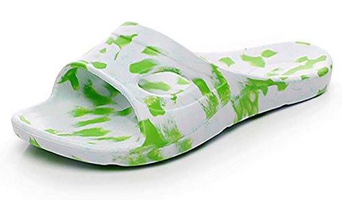 Slip-on Sandali da spiaggia doccia antiscivolo pantofole Mulo EVA Schiume suola scarpe Piscina Bagno Slide per adulti LightGreen