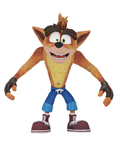 Neca 41050 Crash Bandicoot Actionfigur, orange, blau