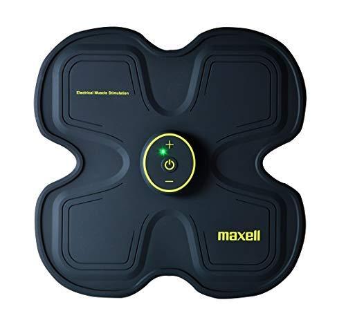 Maxell Activepad - Electroestimulador Muscular EMS para Abdominales, Espalda y cuádriceps. 15 intensidades. Batería Recargable USB Li-Ion. Practica ejercico sin perjudicar Tus articulaciones