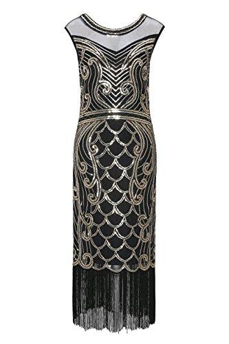 Metme 1920s Kleid Damen Flapper Kleid mit