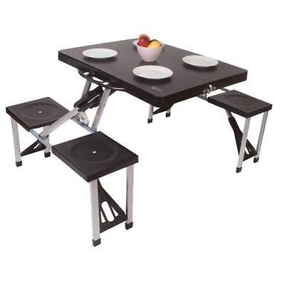 Generic .d Ch Tisch und Stühle, zufällige Farbauswahl, für Wohnwagen, Picknick, Camping, Wohnmobil, Picknick, Picknick, Amping, Cara