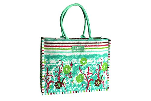 Borsa mare Gian Marco Venturi donna moda mare l.strisce mod.media 44382 verde