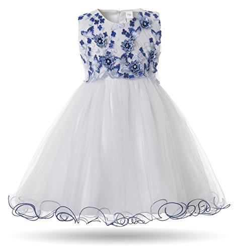 CIELARKO Baby Mädchen Kleid Prinzessin Kleinkind Blume Taufkleid Festzug Hochzeits Kleidung 3-24 Monate (Kostüme 0-6 Monat)