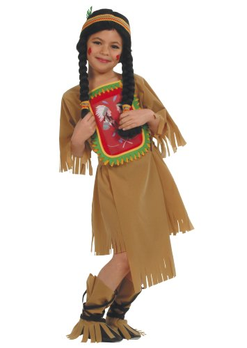 Cesar - Disfraz de india para niña (de 8/10 años)