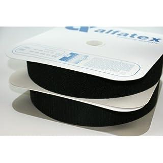 4m Alfagrip Klettband (4m Haken- und 4m Flauschband) - 38mm breit - schwarz
