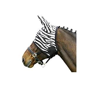 Euroriding Fliegenmaske Zebra Farbe schwarz weiß L