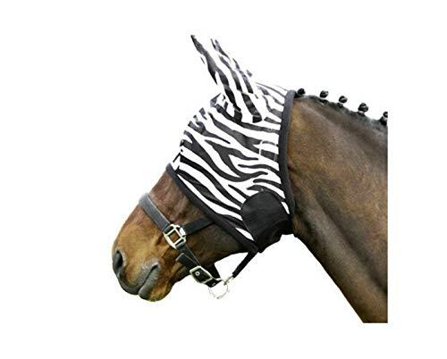 Euroriding Fliegenmaske Zebra Farbe schwarz weiß M