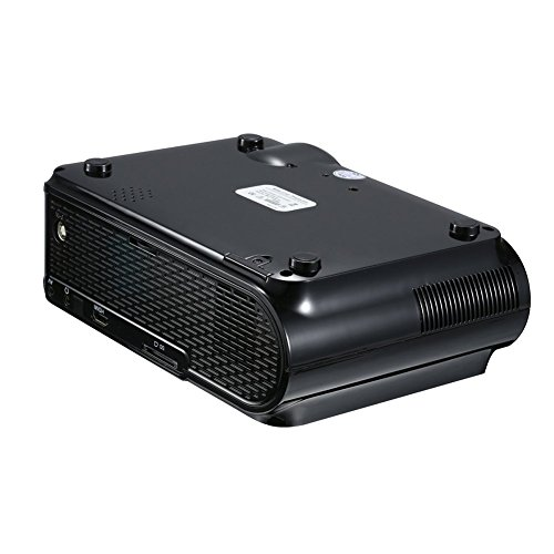 ETbotu 1500LM 800x480 Home Theater LED Projector with Remote Control Support USB   VGA   SD   HDMI   AV   TV