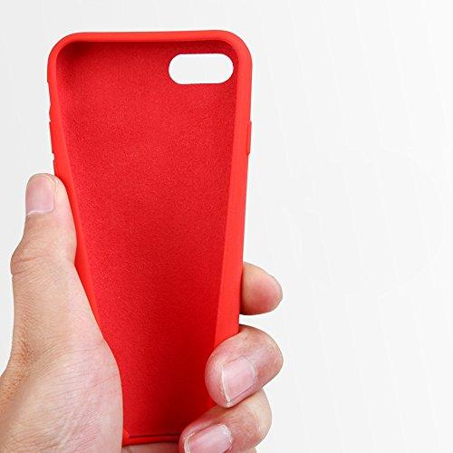 """MOONCASE iPhone 6 Plus/iPhone 6s Plus Hülle, Weich TPU Kratzfest Stoßfest Schutztasche Ultra Slim Schroff Rüstung Handysocken Case für iPhone 6 Plus/iPhone 6s Plus 5.5"""" Pink Pink"""