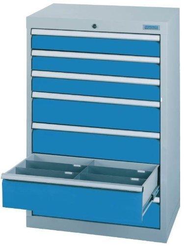 Schubladenschrank Serie T500-6 mit 7 Schubladen verschiedene BLH Schubladenschränke Tiefe 500