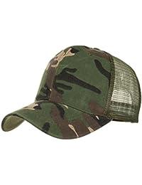 Rovinci Camuflaje Gorra de Verano Malla Sombreros para Hombres Mujeres  Sombreros Casuales Hip Hop Gorras de de5c66c64ae