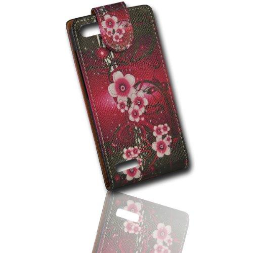Handy Tasche Flip Style - Design No.1 - Cover Hülle Case Etui für Huawei Ascend G6