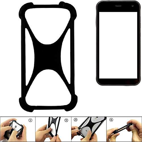 K-S-Trade Bumper Cyrus CS 22 Silikon Schutz Hülle Handyhülle Silikoncase Softcase Cover Case Stoßschutz, schwarz (1x)