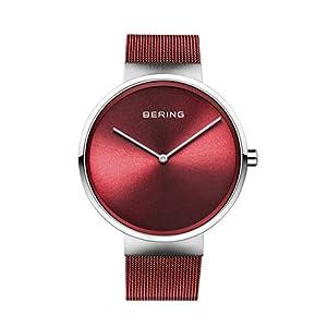 BERING Unisex-Armbanduhr Analog Quarz Uhr mit Edelstahl Armband