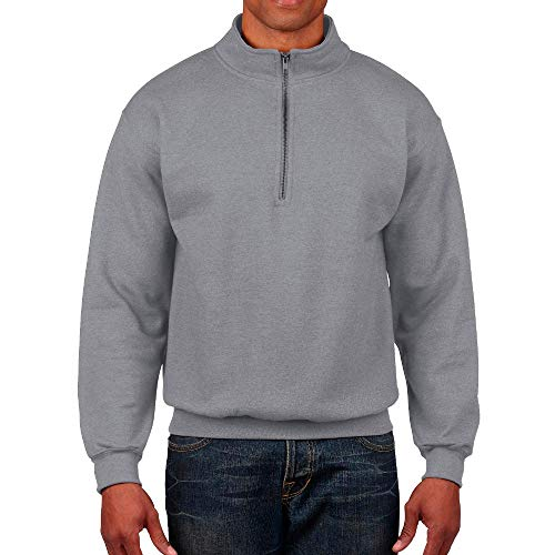 Gildan - Heavy Blend Vintage 1/4 Zip Sweatshirt/Sport Grey, L -