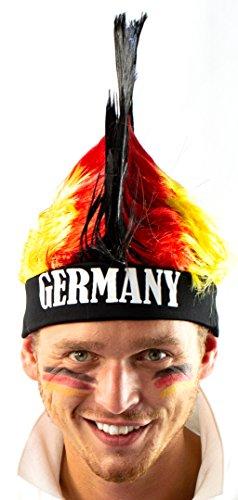 Nick and Ben Fan-Artikel Fußball-Set Deutschland-Farben WM 2018 Russland Irokesen-Mütze Schminkstift