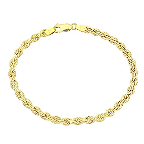 Citerna 9 ct Yellow Gold Thick Rope Bracelet of 7.5 inch/19 cm Length