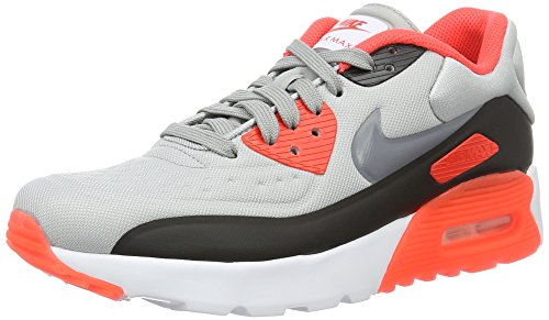 Nike Herren Air Max 90 Ultra Se (Gs) Laufschuhe Grau (Wolf Grey/Cool Grey-Bright crimson-black)