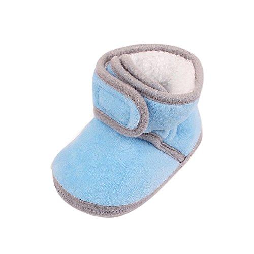 ❤️Amlaiworld Hiver Bottes bébé Chaussures à Semelle Souple pour Jeune Walker Filles Garçon Bottes Velours Chaud Peluche Chaussons pour Filles 0-12Mois