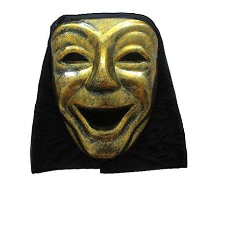 PromMask Masken Gesichtsmaske Gesichtsschutz Domino falsche Front Halloween Maske Requisiten Unheimlich monolithischer Teufel Maske T12