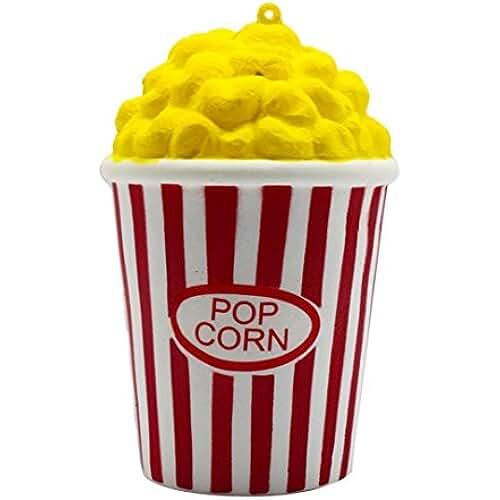 juguetes kawaii Logobeing Squishys Kawaii Grandes Baratos Juguete Niños Squeeze Popcorn Copa Squishy Slow Rising Pack Descompresión Pascua Juguetes Compresivos (Rojo)