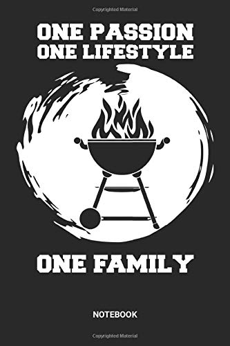 Notebook: BBQ Themed Notebook (6x9 inches) with Blank Pages ideal as a Journal. Perfect as a Barbecue equipment and tools Book for every grillmaster ... lover. Great gift for Men, Women and Kids