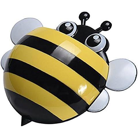 Sannysis® creativo simpatico ape Potente aspirazione spazzolino titolare dentifricio (ape b) - Titolare Coccinella Spazzolino