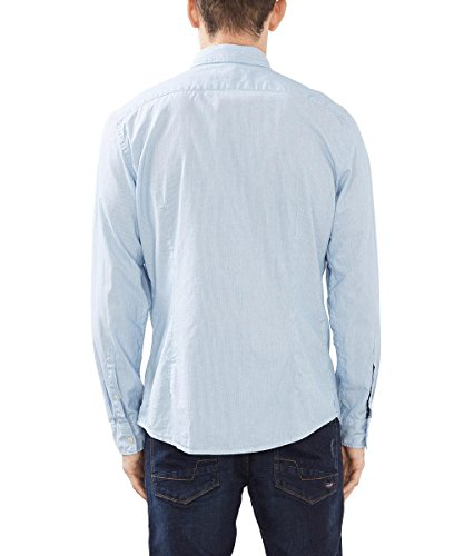 ESPRIT Herren Freizeithemd Gestreift Blau (Light Blue 440)