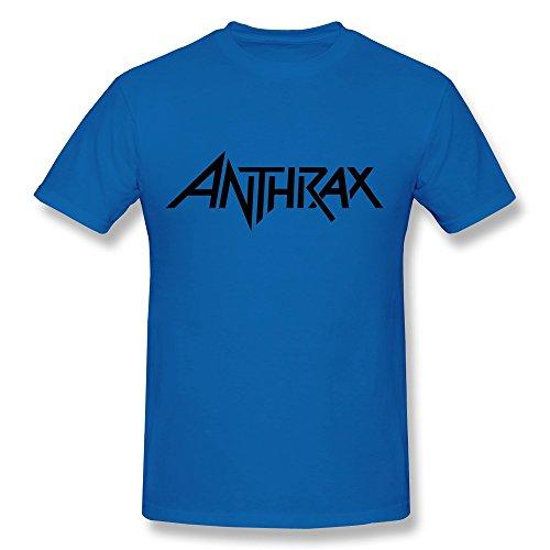 hsuail Herren Anthrax Logo T-Shirt Medium königsblau -