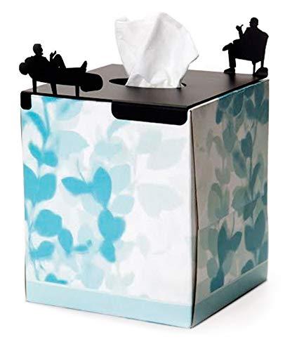 Artori Design | 'En tratamiento' | Tapa metálica decorativa para caja de pañuelos rectangular | Tapa para caja de pañuelos | Regalo para psicólogos, terapeutas y psicoterapeutas | Regalos para escuelas de psicología | Regalos para profesores de psicología