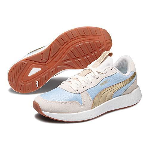 Damen-retro-sneaker (Puma 192748-01 NRGY Neo Retro Sweet Damen Sneaker aus Nylonmesh NRGY Laufsohle, Groesse 40, hellblau/hellgrau)
