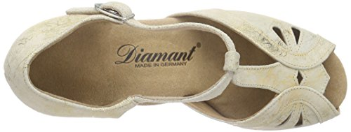 Diamant Damen Tanzschuhe 019-011-017 Standard & Latein Gold (Gold Magic)