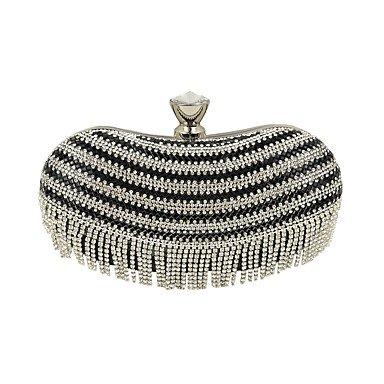 pwne L. In West Woman Fashion Luxus High-Grade Quaste Diamond Abendtasche Black