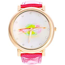 SSITG Lip Women's Quartz Analog Watch with Leather Band