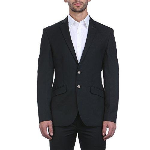Park Avenue Men Black Polyester Blend Jackets