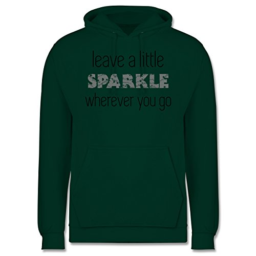 Statement Shirts - Leave a little sparkle wherever you go - Männer Premium Kapuzenpullover / Hoodie Dunkelgrün