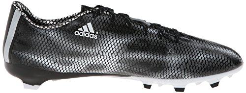 adidas Performance Men's F10 Firm-Ground Soccer Cleat, Solar Red/White/Core Black, 10.5 M US Black-Silver
