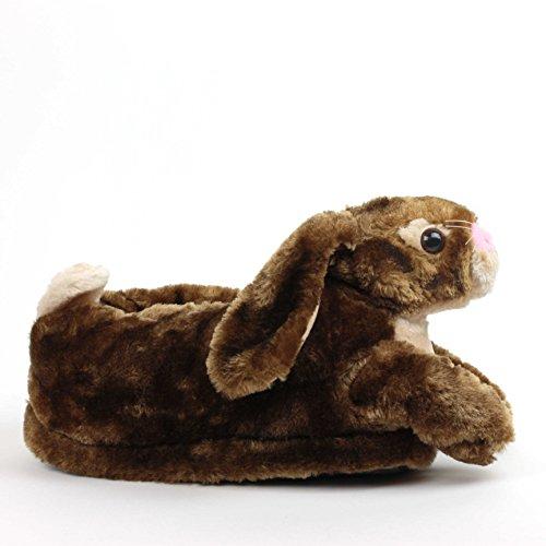 Sleeper'z - Pantofole Animali Coniglio - Adulto e bambino Marrone